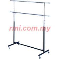 1-003 Double Round Bar Garment Racks