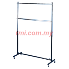 1-018 Double Square Bar Garment Racks