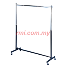 1-017 Single Square Bar Garment Racks