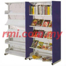 Double Library & Magazine Rack