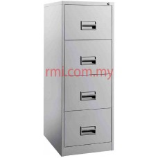 Filling Cabinet @ 4 Drawer c/w Plastic Recess Handle