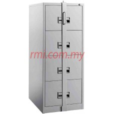 Filling Cabinet @ 4 Drawer c/w Plastic Recess Handle & Locking Bar