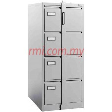Filling Cabinet @ 4 Drawer c/w Goose Neck Handle & Locking Bar