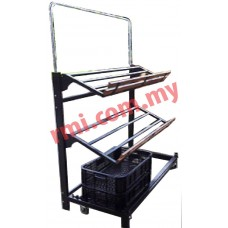 F&V Stand c/w 2 Levels metal Frame